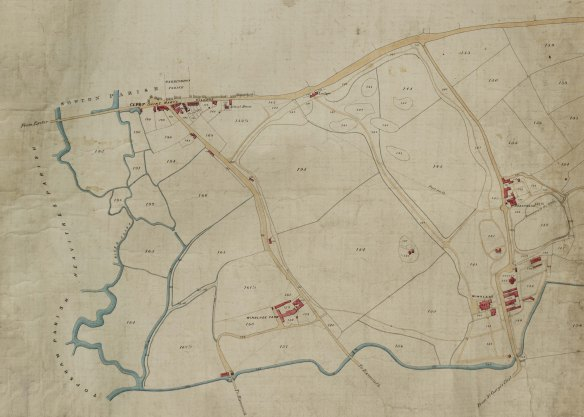 Clyst St. Mary Tithe Map 1839 part red